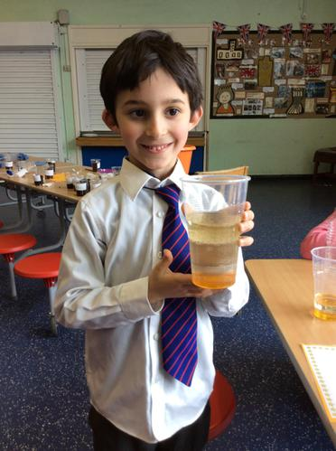 Look at the liquid layers that Kostis made.