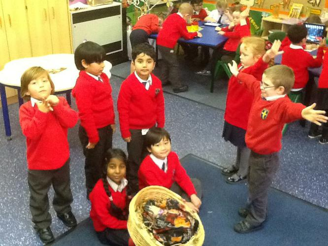 We enjoyed retelling the story of the Nativity!