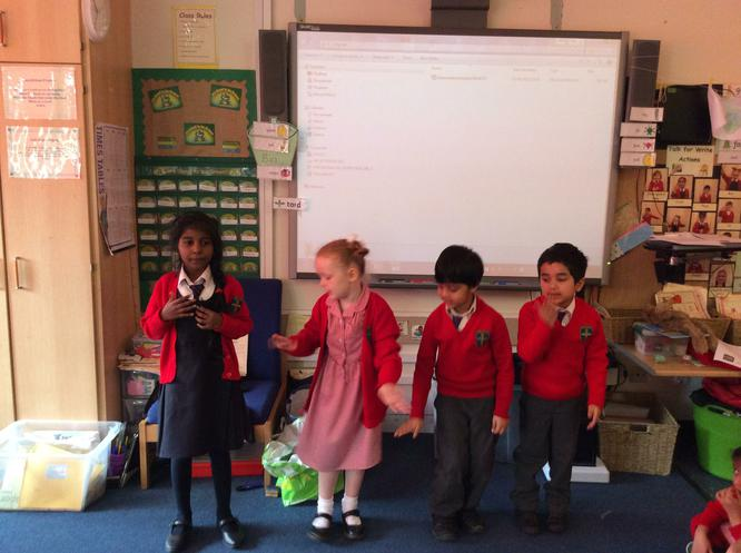 We enjoyed presenting our actions to the class.