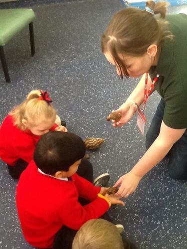 Tanya enjoyed holding the large snail.