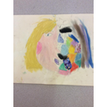 More examples of the pupil's abstract art work...