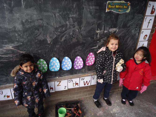 Look at our Easter egg number line.