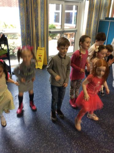 We had lots of fun showing our best dance moves!