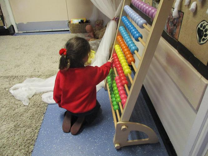 I am using the abacus to help me to count!