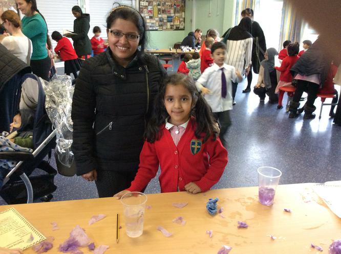 Ishita enjoyed trying to make the paper clip float
