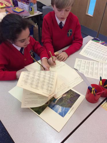 Children hard at work using their grammar packs!