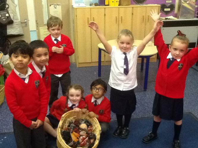 We were able to retell the story of the Nativity.