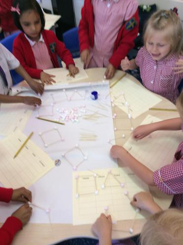 We have made a shape with six sides, What is it?