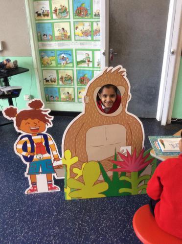 Ishita enjoyed pretending to be a gorilla.