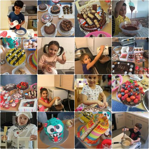 Some of last year's amazing cakes and their bakers