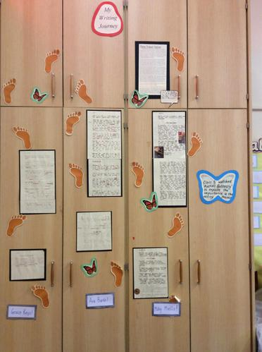 This is our 'writing journey' wall!