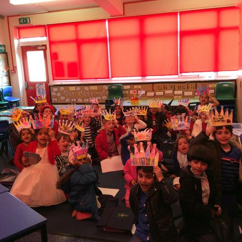 Look at our amazing crowns that we made! 👑