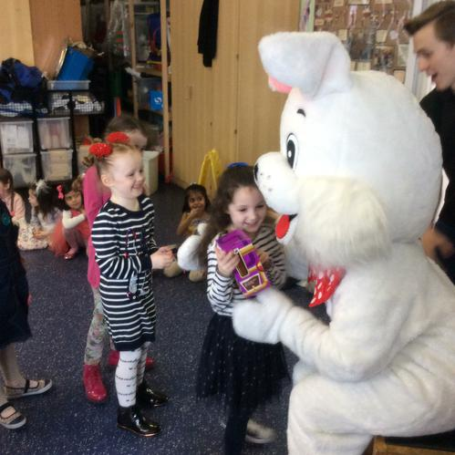 We loved meeting the Easter bunny!