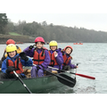13. Having great fun canoeing