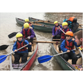 14. Having great fun canoeing