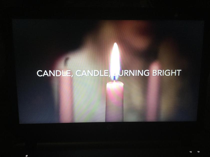 We sang our Advent Candle Song