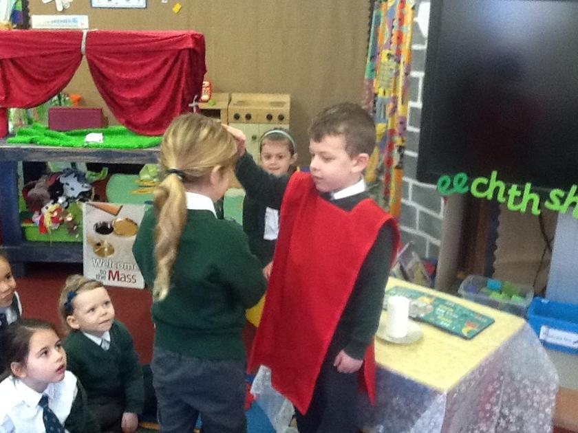 Each class member receives a blessing