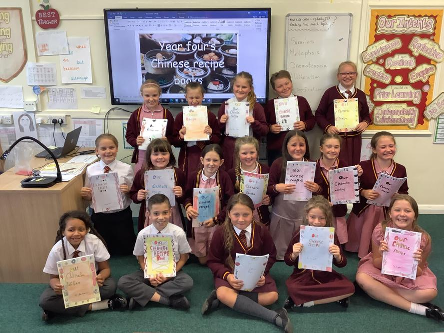 Y4 have written their own wonderful Chinese recipes this half term.