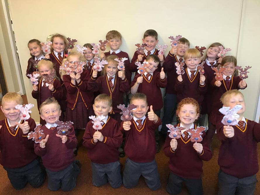 Year 2 with their reindeers