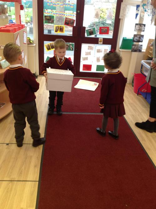 the children collected the delivery
