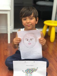 Gio's 'I am special' picture