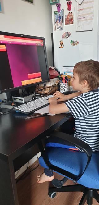 Maksim learning on Purple Mash