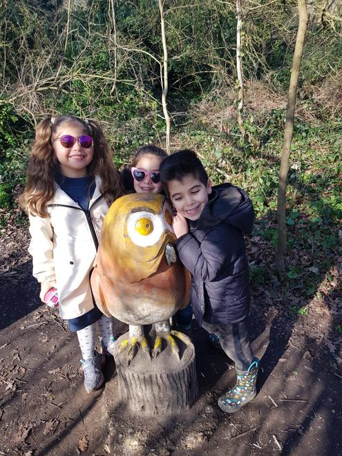 Yousef visits The Gruffalo trail