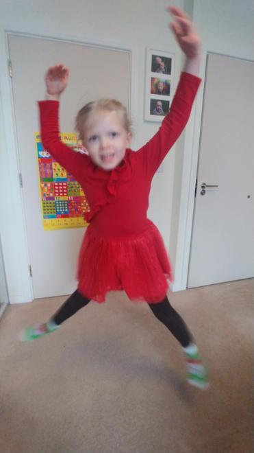 Laura's happy swan dancing 1