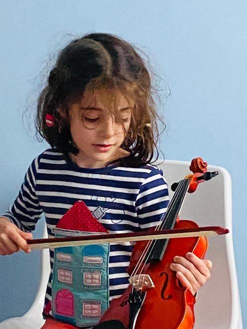 Sophie's new violin
