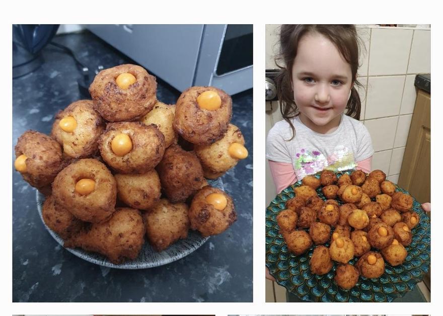 Goda's Gruffalo eye doughnuts
