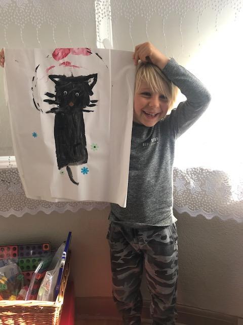 Alex's amazing cat painting