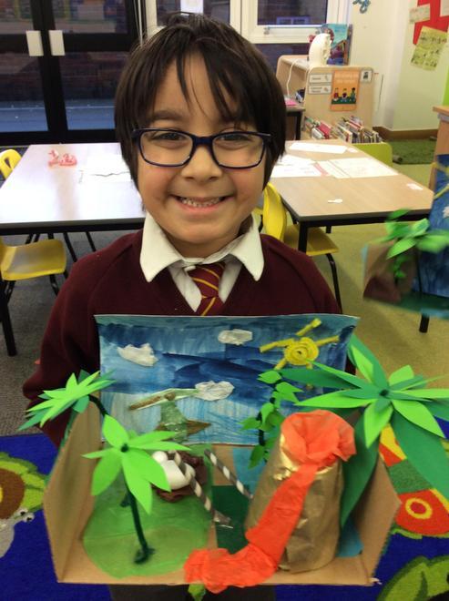 Rayyan's Dinosaur landscape