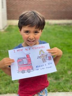 Gio wants to be a firefighter when he grows up!