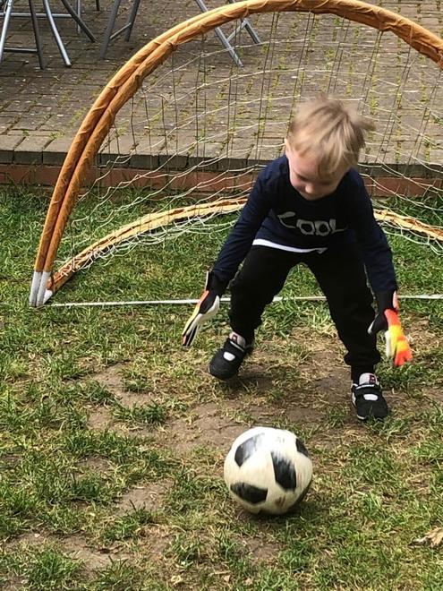 Janek the goalie!