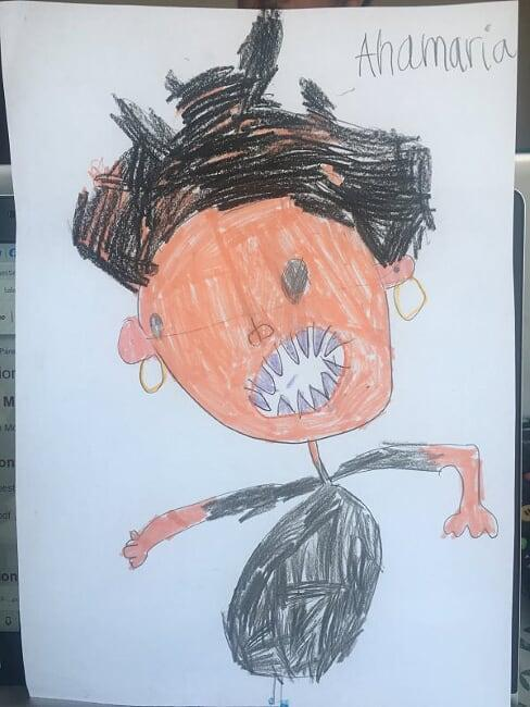 Mateo B's picture of his Mummy!