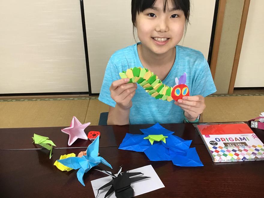 Ayaka's origami caterpillar!