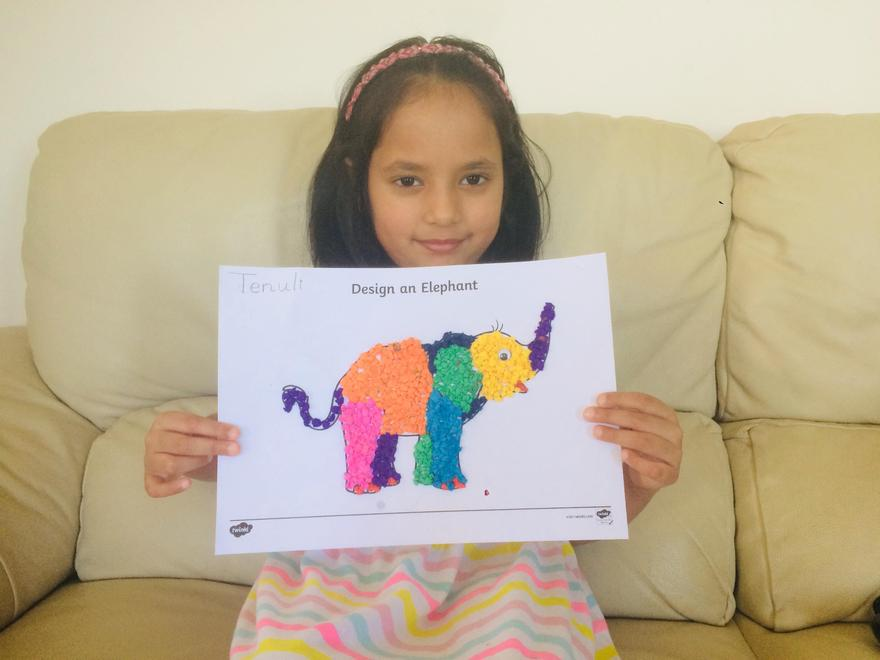 Tenuli's completed Elmer picture