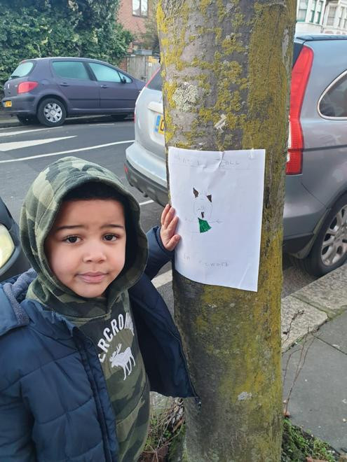 Gabriel posting his 'Wanted' poster