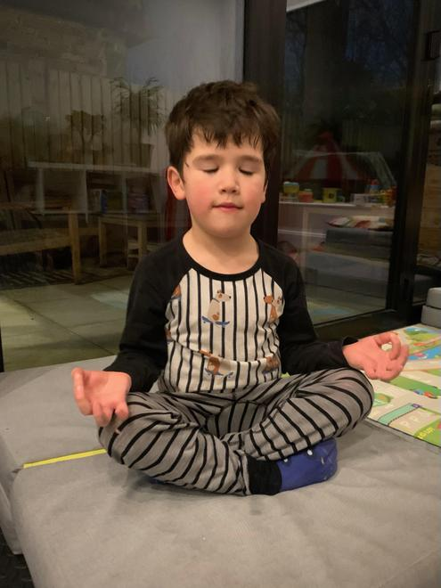 Benedict practising mindfulness