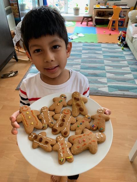 Mateo B's delicious gingerbread men