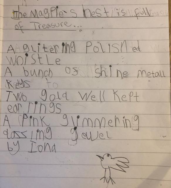 Iona's Magpie Poem