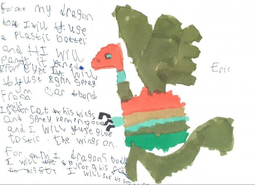 Eric's wonderful dragon & description