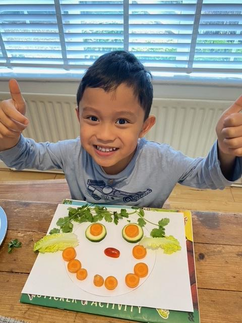 Mason's fruit and vegetable face