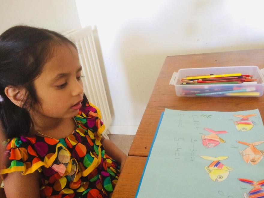 Tenuli's subtraction with fish
