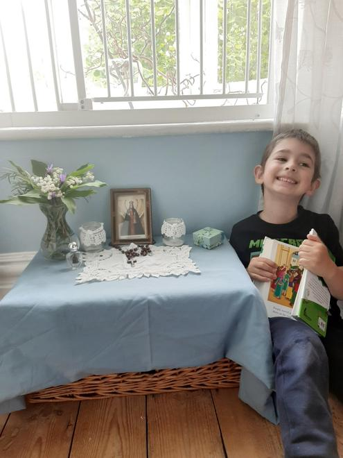 Stanley's prayer table (and favourite Bible page)