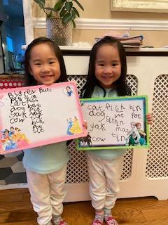 Chloe and Charlotte's writing