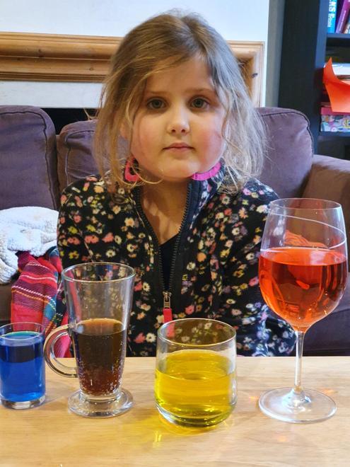 Julia exploring capacity with liquids