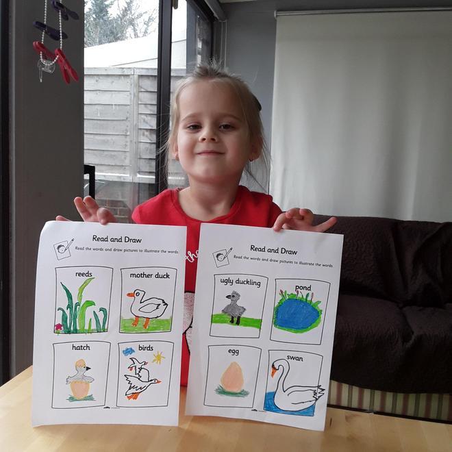 Jagoda's read and draw activity