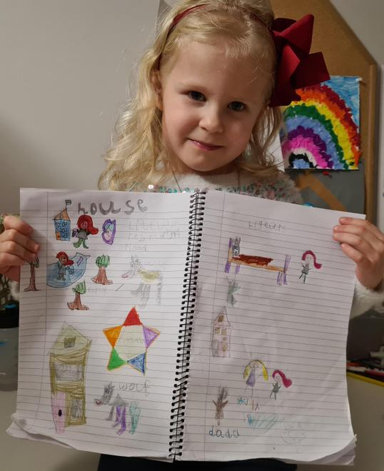 Maja's LRRH story sequencing
