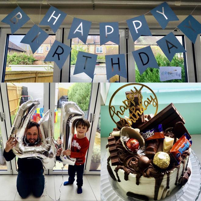 William celebrating his Daddy's birthday